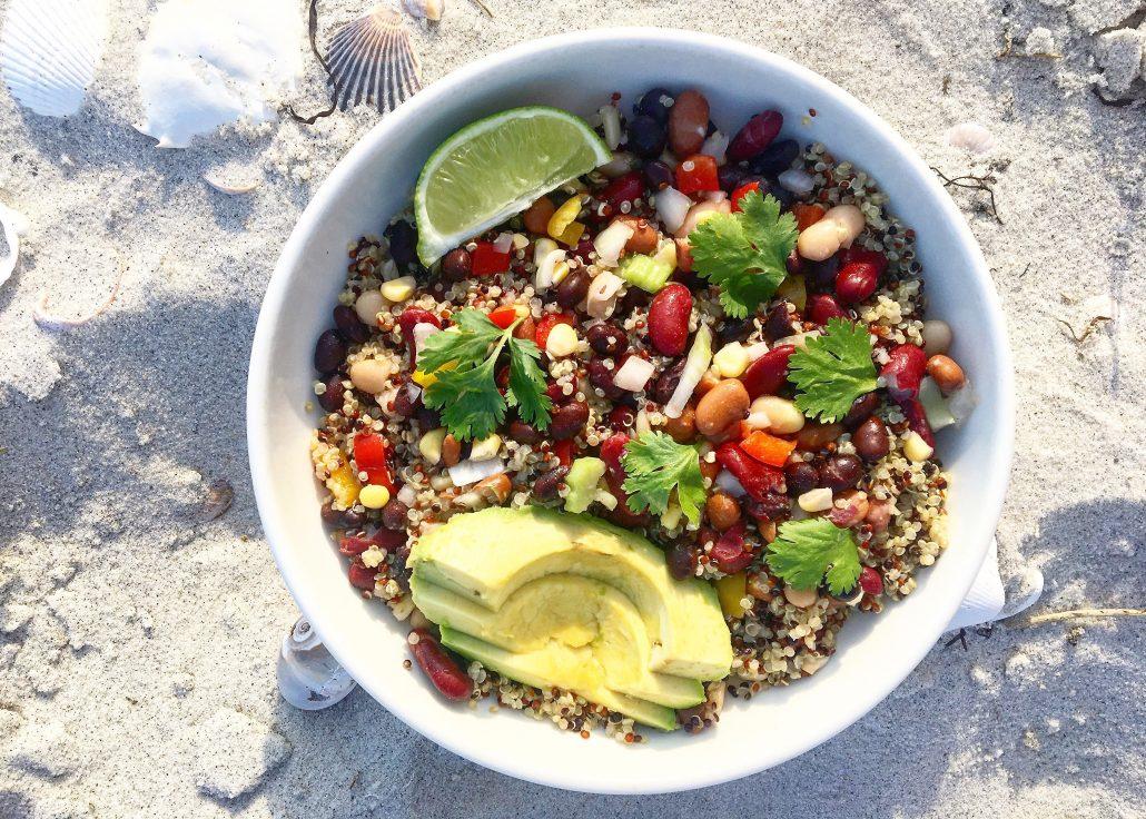 Four Bean Quinoa Bowl