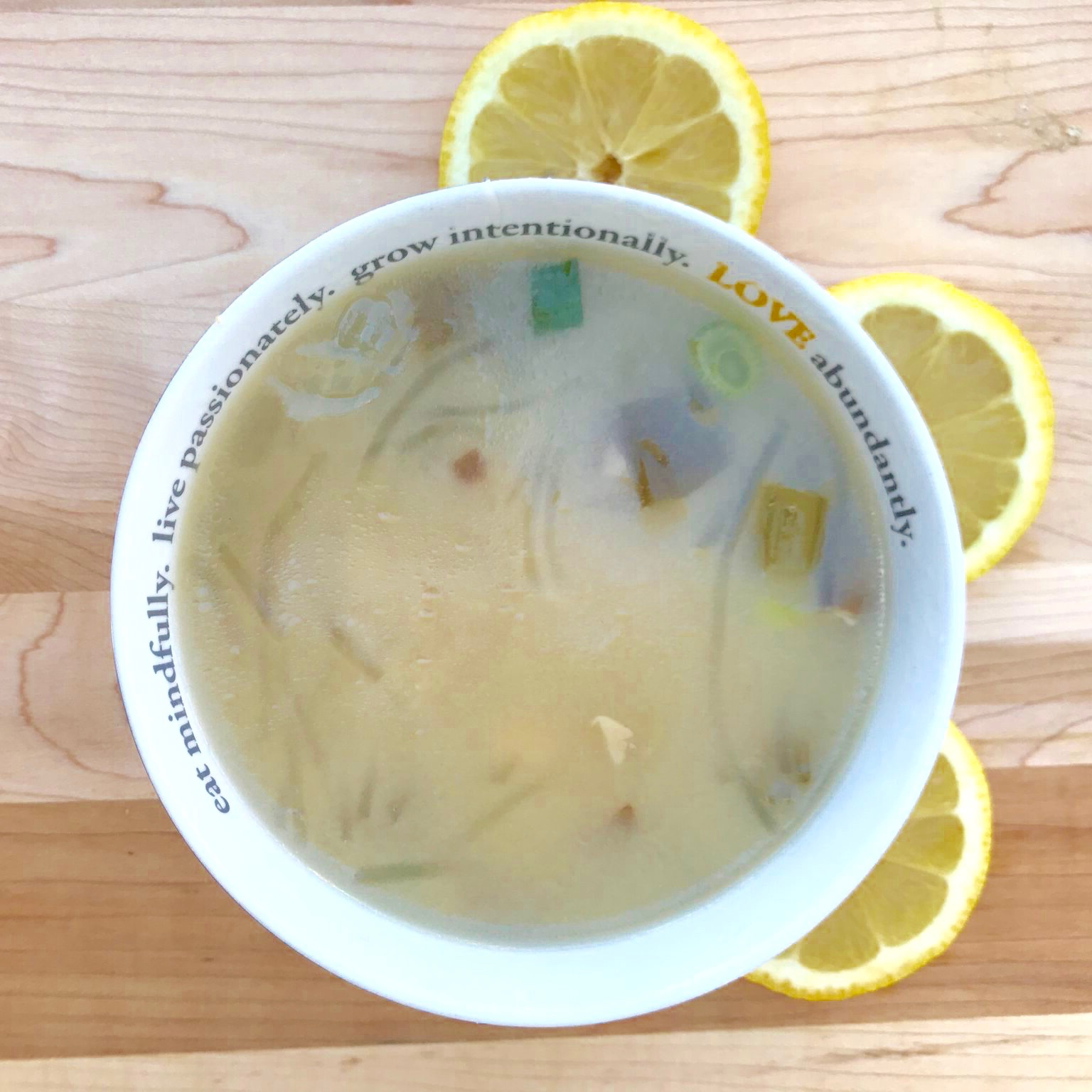 Lemon Miso Soup – Green & Tonic